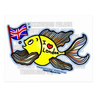 Pescados de Londres Tarjetas Postales