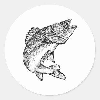 Pescados de los leucomas pegatinas