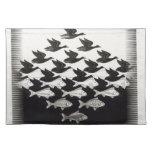 pescados de los pájaros mantel