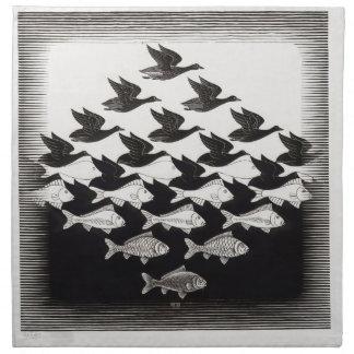 pescados de los pájaros servilletas de papel