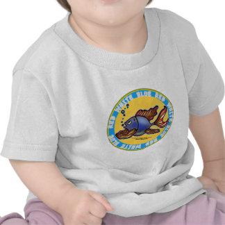 Pescados de los vaqueros camiseta