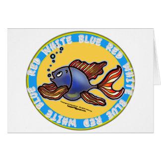 Pescados de los vaqueros tarjeta de felicitación
