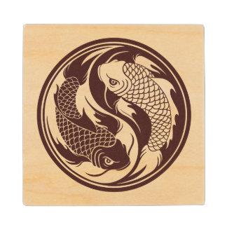 Pescados de madera de Yin Yang Koi