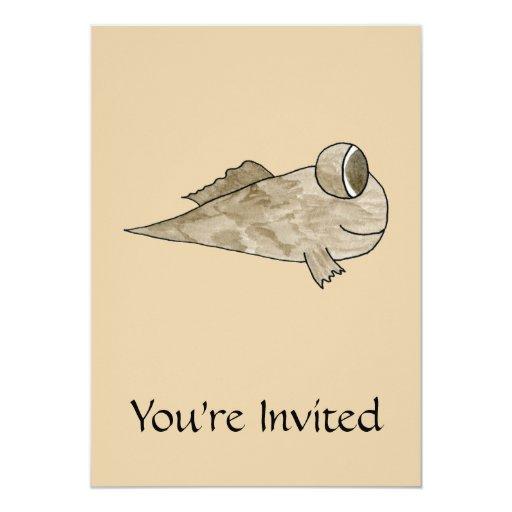 """Pescados de Mudskipper Invitación 5"""" X 7"""""""