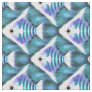 Pescados de neón abstractos del ángel en tela del