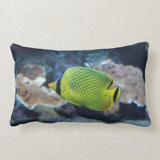 Pescados de neón amarillos almohada