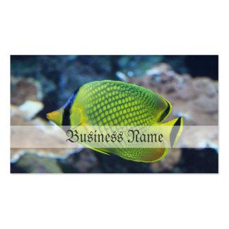 Pescados de neón amarillos tarjetas de visita