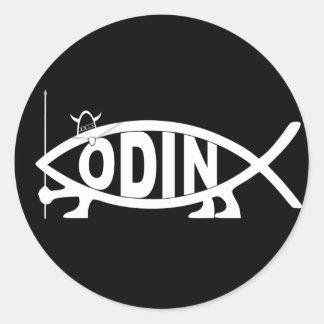 Pescados de Odin Pegatina Redonda