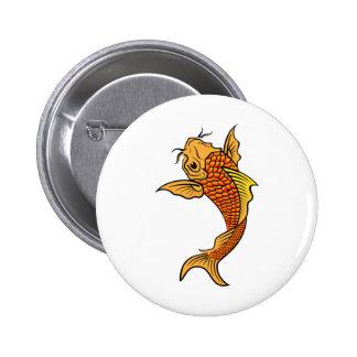 Pescados de oro de Koi Pin Redondo De 2 Pulgadas