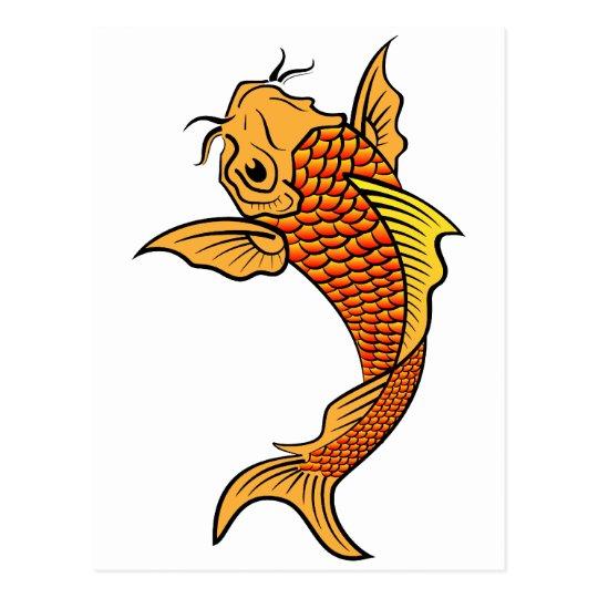 Pescados de oro de Koi Tarjeta Postal