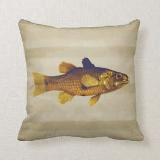 Pescados de oro en diseño del vintage de la pluma cojín decorativo