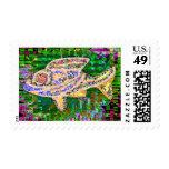 Pescados de oro raros - artes creativos sellos