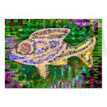 Pescados de oro raros - artes creativos tarjeta de felicitación