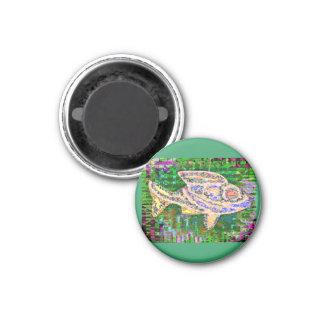 Pescados de oro raros - imaginaciones de la imán redondo 3 cm