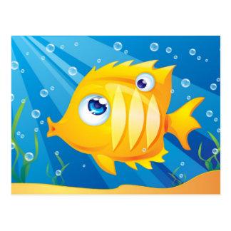 Pescados de oro tarjeta postal