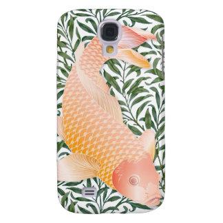 Pescados de oro y plantas de agua verdes 2 de Koi Funda Para Samsung Galaxy S4