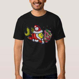 Pescados de Papá Noel - camiseta divertida del Playeras