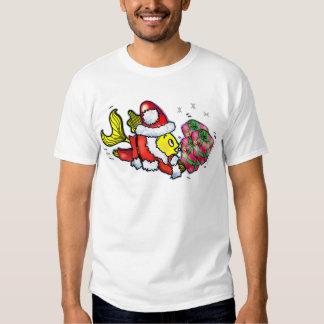 Pescados de Papá Noel - camiseta divertida del Poleras