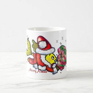 pescados de Papá Noel - el navidad lindo divertido Taza