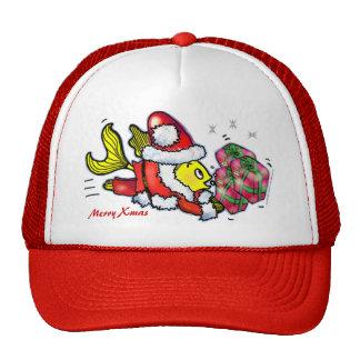 Pescados de Papá Noel - gorra lindo divertido del
