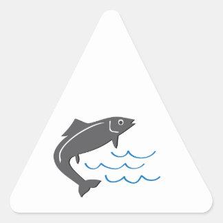 Pescados de salto pegatina triangular