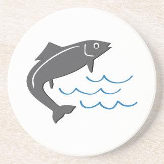 Pescados de salto posavasos personalizados