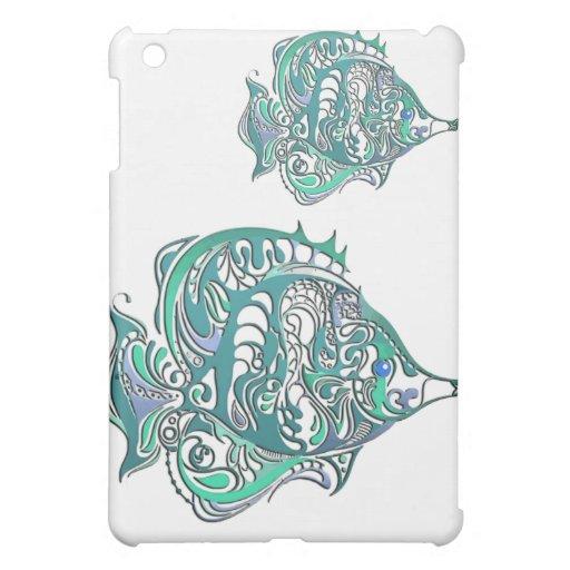 Pescados de Swirly de la fantasía del Aquamarine