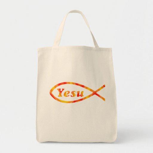 Pescados de Yesu Bolsa Tela Para La Compra