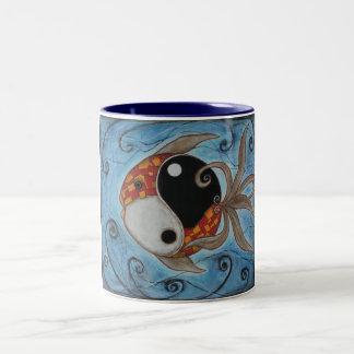 Pescados de Yin Yang Tazas De Café