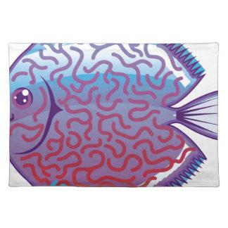Pescados del acuario del disco mantel individual