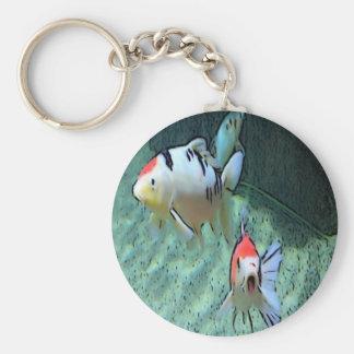 pescados del acuario pintura llaveros personalizados