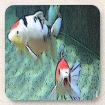 pescados del acuario, pintura posavaso