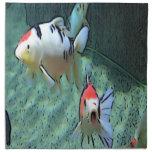 pescados del acuario, pintura servilleta