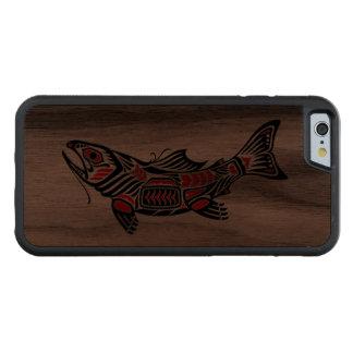 Pescados del alcohol del Haida Funda De iPhone 6 Bumper Nogal