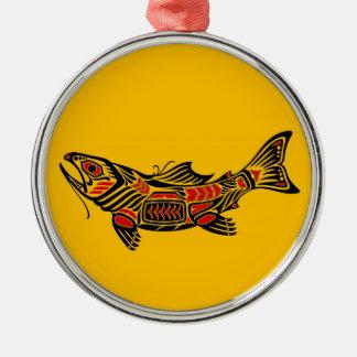 Pescados del alcohol del Haida en amarillo Adornos De Navidad