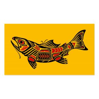 Pescados del alcohol del Haida en amarillo Tarjeta De Negocio