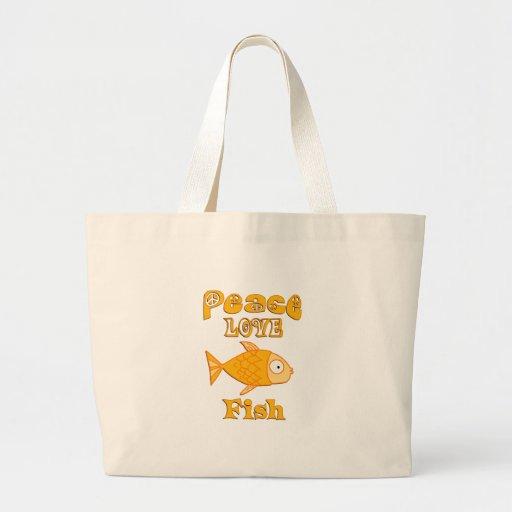 Pescados del amor de la paz bolsa