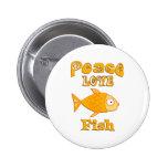 Pescados del amor de la paz pin