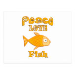 Pescados del amor de la paz tarjeta postal