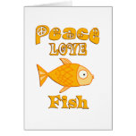Pescados del amor de la paz tarjeton
