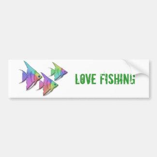 Pescados del ángel del arco iris pegatina de parachoque