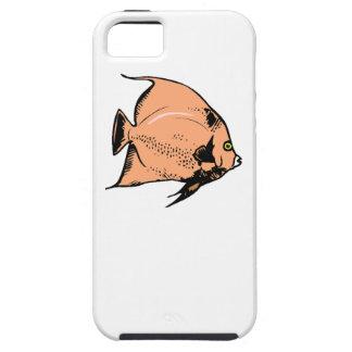 Pescados del ángel del melocotón iPhone 5 Case-Mate funda