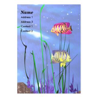 Pescados del ángel - rechonchos plantilla de tarjeta de visita