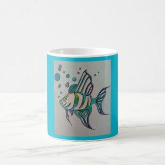 Pescados del ángel taza básica blanca
