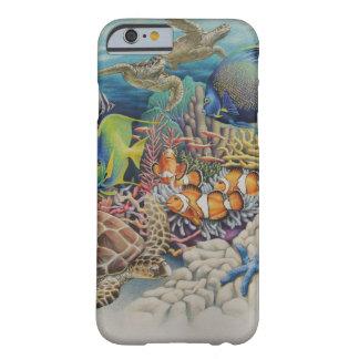 Pescados del arrecife de coral en sinfonía funda para iPhone 6 barely there