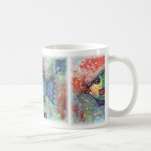 Pescados del arte abstracto de la taza del arte de