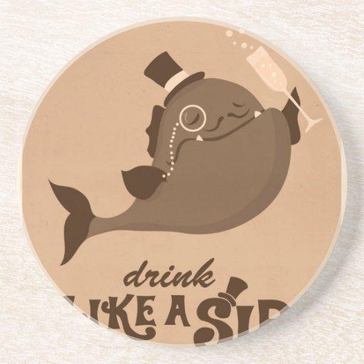 Pescados del bigote - bebida como un sir posavasos cerveza