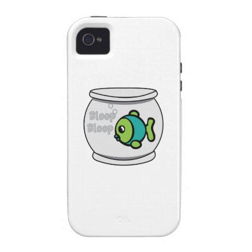 Pescados del Bloop del Bloop Vibe iPhone 4 Carcasa