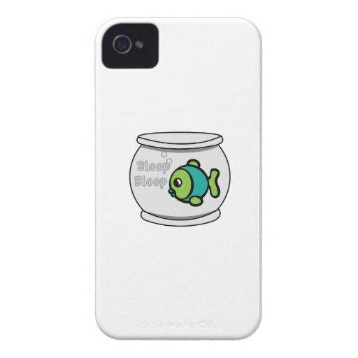 Pescados del Bloop del Bloop Case-Mate iPhone 4 Funda