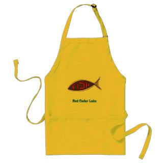 pescados del cedro rojo en pescados delantal